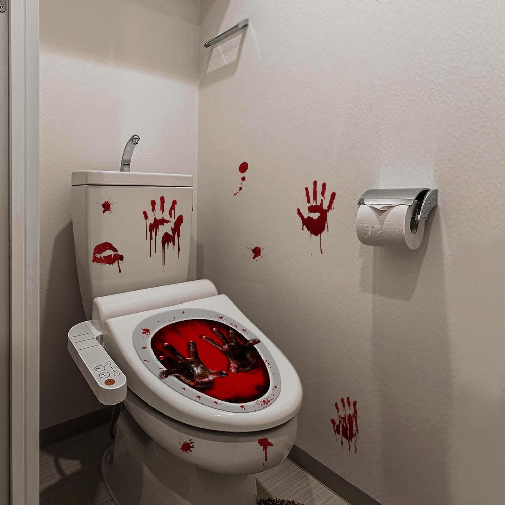 Planetlu Shop Klodeckel Aufkleber Horror Blut Hande Funlife
