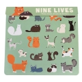 Sticker Set Nine Lives - Katzen